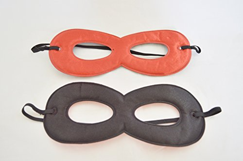 RED AND BLACK REVERSIBLE SUPER HERO MASK FOR KIDS COSTUMES