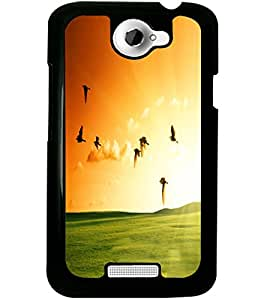 ColourCraft Beautiful Birds Design Back Case Cover for HTC ONE X