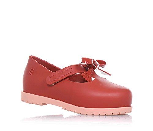 MINI MELISSA - Ballerina rossa, Ballerina rossa realizzata in plastica MELFLEX, una gomma profumata, biodegradabile ed ecologica, Bambina-19-20