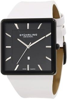 buy Stuhrling Original Men'S 342W.335P1 Classic Ascot Saratoga Swiss Quartz Ultra Slim Date Black Case Watch