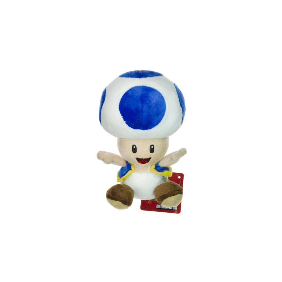 Nintendo Super Mario Bros. Wii Plush Toy   6 Blue Toad by Global Holdings