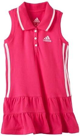 Adidas Little Girls' Ace Polo Dress, Pink, 6X
