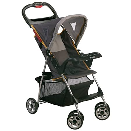 The Kolcraft Lite Sport Stroller is perfect for when you need something light and easy while on the go. Stroller weighs only 12 pounds and offers quick and easy 1 hand fold. JPMA Certified.