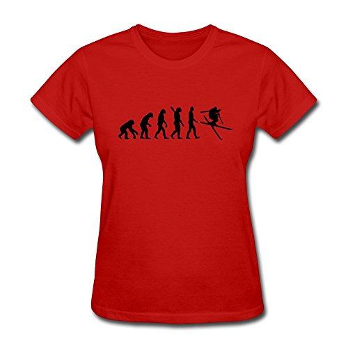 Zhitian Women'S Evolution Ski T-Shirt - Xs Red