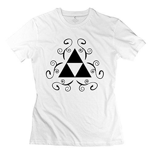 Triforce Lady Valentine'S Day T-Shirts Size X-Small White