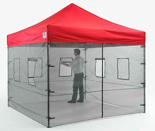 Canopy screen panels vendor outdoor server food mesh walls for Kitchen set environment
