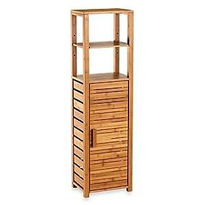 bamboo tall bathroom corner vanity floor