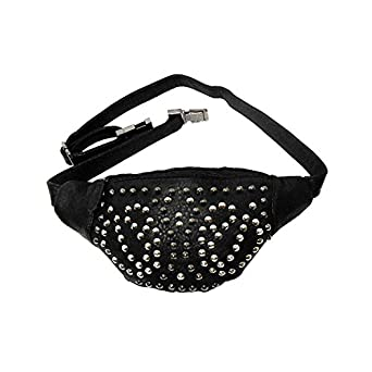 Women's Faux Leather Studded Fashion Fanny Pack Fits up to 41in Waist