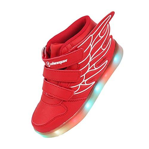 Angin-Tech-Angel-Serie-Zapatillas-LED-7-Colores-de-Carga-USB-para-Intermitente-Zapatos-con-Luces-de-Los-Nios-y-Nias-para-la-Accin-de-Gracias-de-Navidad-con-el-Certificado-CE