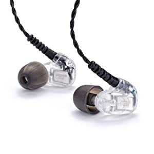 In Ear iPhone Headphones with Microphone and Play/Pause Button in Aluminum on Silver