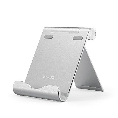 Anker コンパクトマルチアングルスタンド 角度調整可能 iPhone/ iPad / Samsung Galaxy / Kindle / Nexus 他スマートフォン、タブレット対応 (シルバー) A7135041