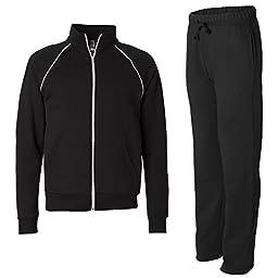 Bella + Canvas 100% Cotton Fleece Sweatsuit, XX-Large, Black