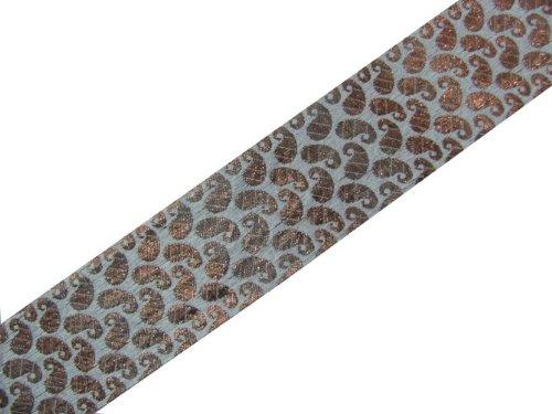 4.5 Yard Bronze Off White Metallic Jacquard Ribbon Trim Embellishment