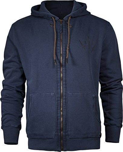 Musterbrand Uncharted Felpa con cappuccio Uomo Liberty Sweatshirt Jacket / Gaming Clothes Blu XL