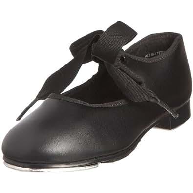 Capezio PU JR Tyette tap, Chaussures danse fille - Noir-V.6, 19 EU