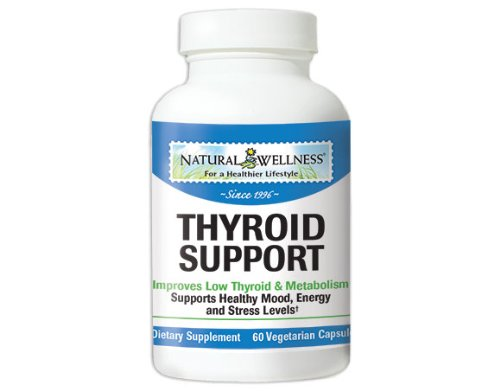 Natural Wellness Thyroid Support - 60 Capsules, 1 Month Supply