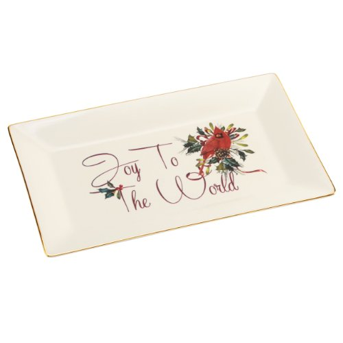 Lenox Winter Greetings Tray, Joy to the World (Christmas Tray compare prices)