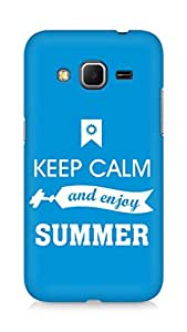 Amez Keey Calm and Enjoy Summer Back Cover For Samsung Galaxy Core Prime
