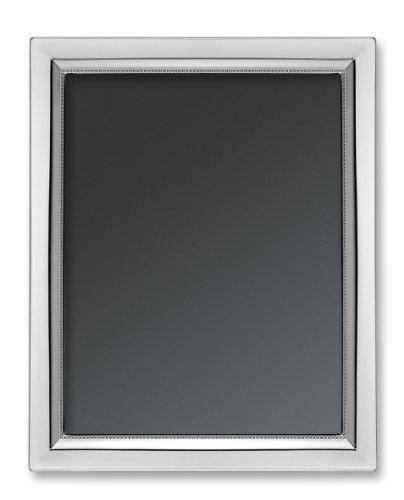 """Isabel Cabanillas """"Beads"""" Picture Frame in .925 Sterling Silver for 5-Inch by 7-Inch Photograph"""