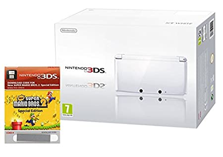 Nintendo 3DS Ice White with New Super Mario Bros. 2: Special Edition Download Code