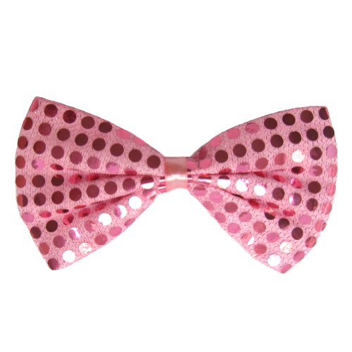 SeasonsTrading Pink Sequin Bow Tie ~ Fun Costume Party Accessory (STC12098)