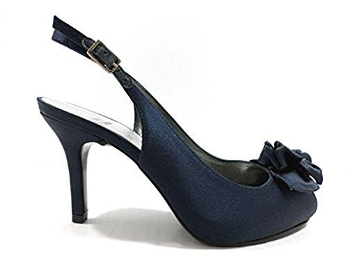STUART WEITZMAN WH950 sandali donna 40 EU raso blu navy