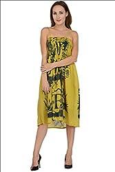 Selfiwear SW-642 Yellow Cotton Dress