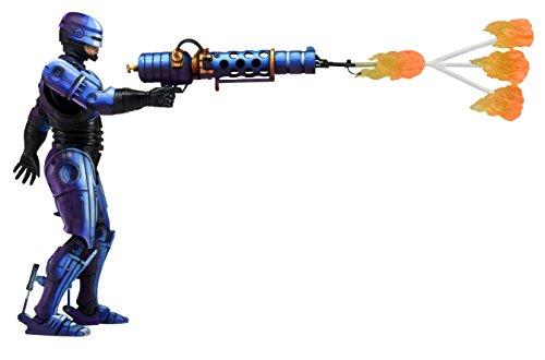 """NECA Robocop vs Terminator (93' Video Game) 7"""" Series 2 Robocop Action Figure with Flamethrower"""