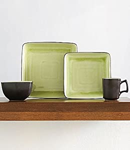 Gourmet Expresions Krackle Kiwi 16 Pc Dinnerware Set