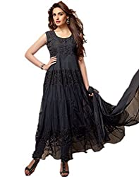 Fashion On Sky- black brasso anarkali suit