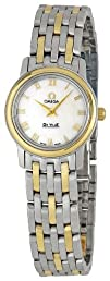 Omega Womens 4370.71 DeVille Mother Of Pearl Dial Watch