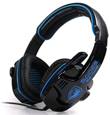 Sades Blue Professional 3.5mm Games Gaming Headset Headphones for PC Laptop