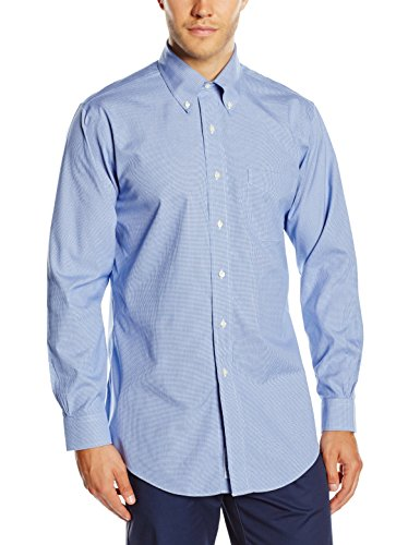 Brooks Brothers - Dress Non-Iron Botton Down Classic, Camicia da uomo, blue 61, 43 (collo in. 17 manica in. 36)