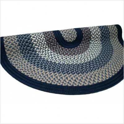 Green Mountain Lake Champlain Blue Braided rug Size: 8' x 10'