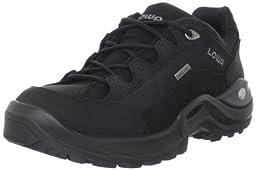 Lowa Women\'s Renegade II GTX LO Hiking Shoe,Black/Black,7.5 M US