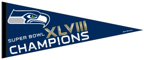 "Seattle Seahawks Official Super Bowl 48 Champion 29"" Pennant by Wincraft at Amazon.com"