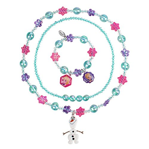 Disney Frozen Necklace and Bracelet Set with Olaf - New - 1