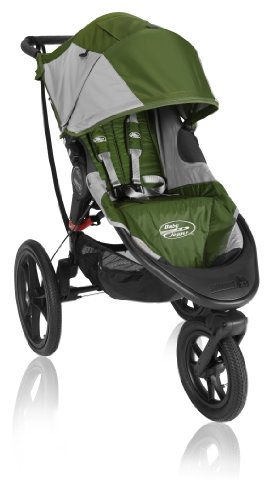 Baby Jogger Summit X3 Single Stroller, Green front-126936