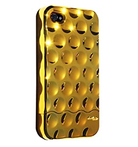 Hard Candy Cases Bubble Slider Case for Apple iPhone 4, Chrome-Gold, (BS4G-CHR-GLD)