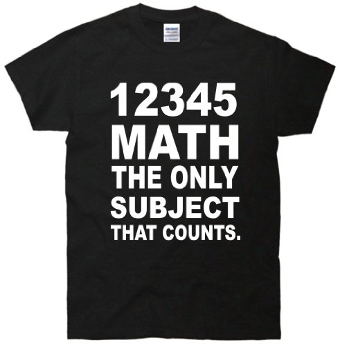 12345 Math The Only Subject That Counts T-Shirt