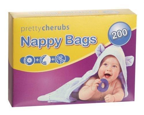 Motif chérubins 200 sacs à couches Parfumés x 6