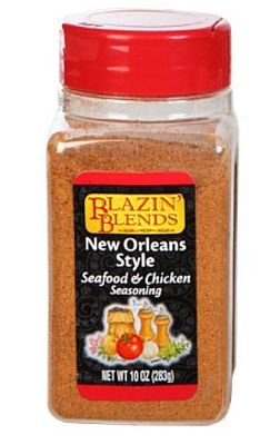 Blazin' Blends New Orleans Style Seafood & Chicken Seasoning (7 0z.) (639277476142)