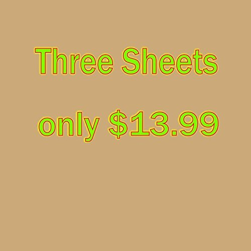 "Sale!! 3 sheets of 12"" x 15"" Siser Easyweed Heat Transfer Vinyl, IRON ON T-shirt Heat Tran..."