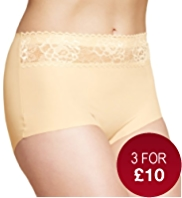 No VPL Lace Low Leg Full Briefs