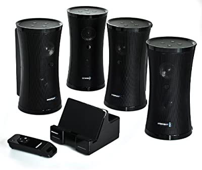 Sabrent Weather Resistant 900MHz Wireless Indoor Outdoor 150 FT 4 Speaker System With Remote And