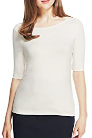 Autograph Modal Rich Slash Neck Plain Top [T50-4110-S]