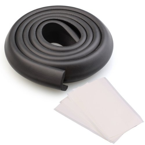 Neewer®Reg; 2M Baby Furniture Corner Safety Bumper Security Table Desk Corner Edge Protector Guard Cushion Strip With Adhesive Tape Black (L Shape)
