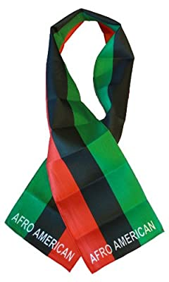 "African American - 8"" x 60"" Lightweight Flag Scarf"