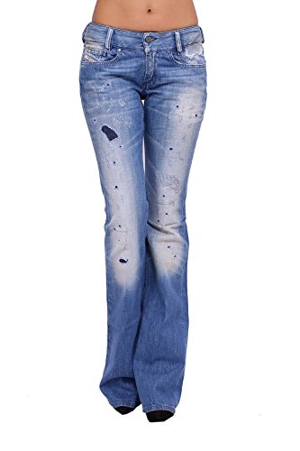 DIESEL - Jeans Donna LOUVELY 8YF - Regular Slim - Bootcut - Non Stretch - blu, W25 / L34