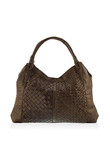 Lisa Minardi Women's Leather Shoulder Bag, Taupe
